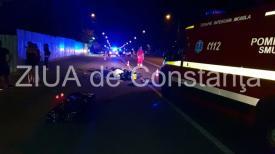 Oficial de la Poliţie Accident  rutier grav în centrul comunei Valu lui Traian. Un tânăr motociclist a murit pe loc (galerie foto+video)
