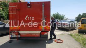 Pericol în Mamaia Nord! O țeavă de gaze s-a spart. Pompierii ISU sunt la fața locului