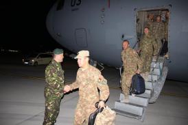 Militarii din al III-lea detașament din Batalionul Protecția Forței \