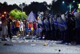Un nou film al Jandarmeriei despre protestul din 10 august. În înregistrare nu apare nicio secvență cu intervenția brutală a forțelor de ordine asupra manifestanților pașnici