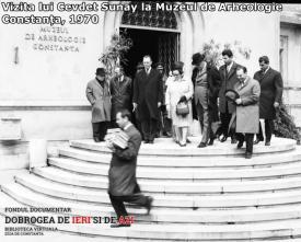 Vizita lui Cevdet Sunay la Muzeul de Arheologie Constanța, 1970
