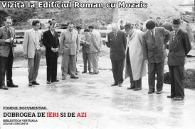 Vizită la Edificiul Roman cu Mozaic, 1 mai 1960