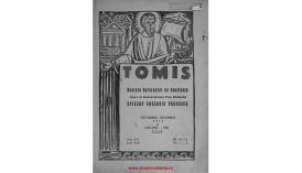 Tomis. Revistă eparhială de Constanţa - anii XXI, nr. 11-12, şi XXII, nr. 1-5, 1945