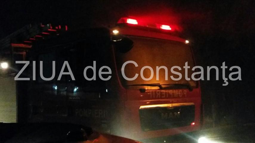 Incendiu in judetul Constanta. Pompierii ISU Dobrogea intervin