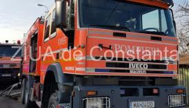 Pompierii chemaţi în ajutor, la un incendiu în judeţul Constanţa