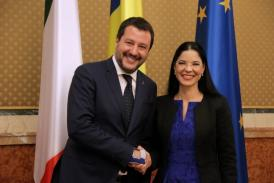 """Ana Birchall """"România și Italia au o relație excelentă, clădită pe două decenii de Parteneriat Strategic"""" (galerie foto)"""