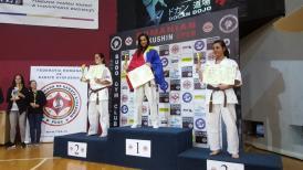 Cupă internaţională Luptătorii de la Shobu Constanţa au urcat pe podium şi la Kyokushin Romanian Open