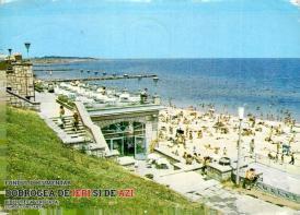 Eforie Nord - faleza și plaja în 1979