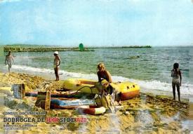 Plaja din Eforie Nord în 1986