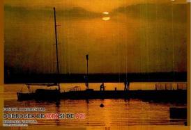 Apus de soare pe lacul Siutghiol din stațiunea Mamaia