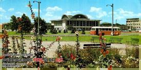 Gara din Constanța văzută din parcul gării