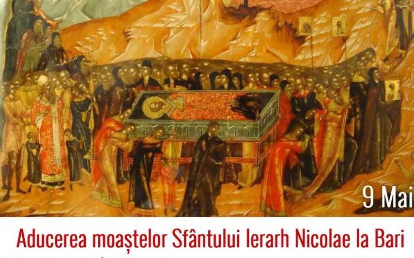 9 mai - Aducerea moaştelor Sfântului Ierarh Nicolae la Bari