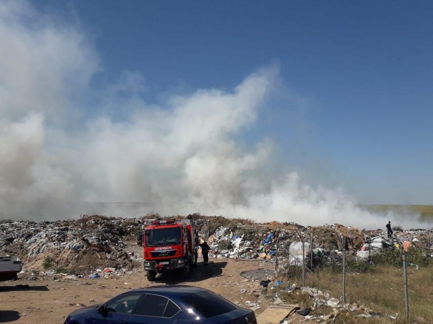 incendiu violent izbucnit la groapa de gunoi din caracal 698030