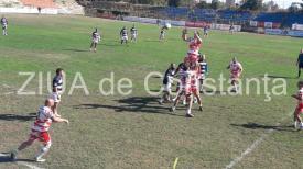 Imagini de la eveniment Rugbyștii de la Tomitanii, înfrângere în meciul cu Dinamo de la Constanța (galerie foto+video)
