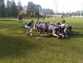 Rugbyștii de la Tomitanii Constanța au condus la pauză U Cluj în deplasare. Gazdele au revenit în partea secundă