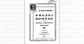 """""""Anuarul presei române și al lumei politice 1926-1927\"""