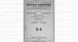 """Justiția Dobrogei"", anul XII, nr. 3-4, 1943"