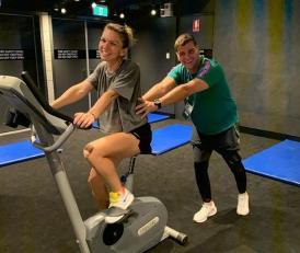 """""""Împreună până la capăt. Ca la Wimbledon""""  Simona Halep, alături de iubitul ei, la Melbourne, în sala de antrenament"""