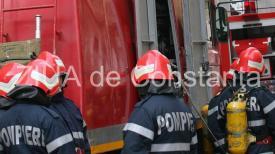 Alertă ISU Constanța Pompierii solicitați la un incendiu la o clădire dezafectată din spatele hotelului Oxford