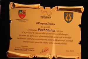 """#DobrogeaDigitală – """"Teatrul liric (Opera Constanţa)"""", de Adrian Doxan:  Maestrul Paul Staicu, fondatorul Filarmonicii """"Marea Neagră"""", la ceas aniversar"""