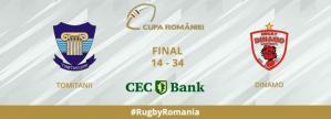 Rugbyștii de la Tomitanii Constanța au pierdut meciul cu Dinamo din Cupa României