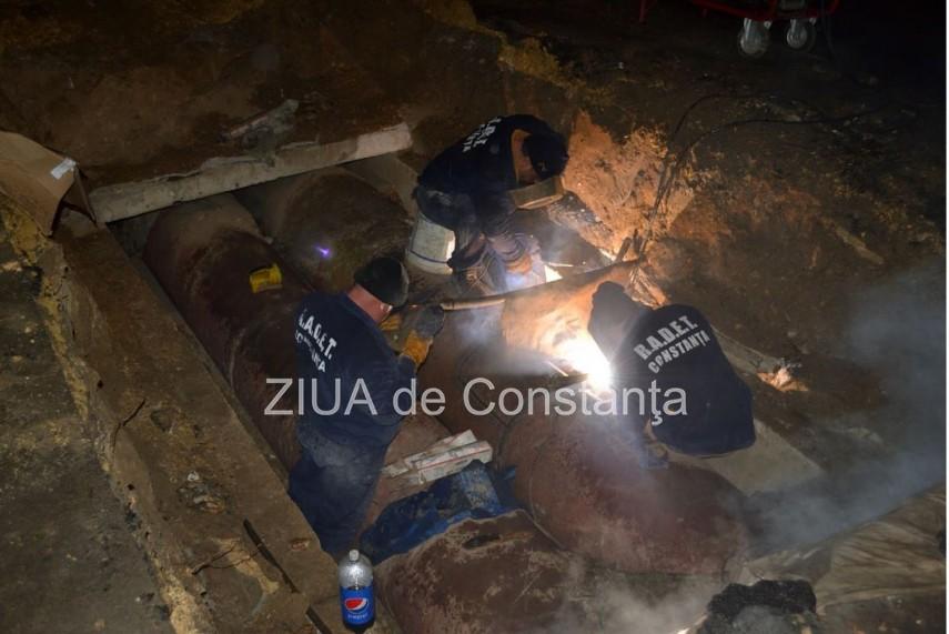 RADET a finalizat lucrările de eliminare a avariei din zonele Faleză Nord și Piața Tomis III