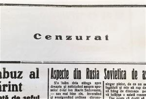 """#Dobrogea Digitală: Suspendarea revistei """"Tomis"""" de Serviciul Cenzurii Presei"""