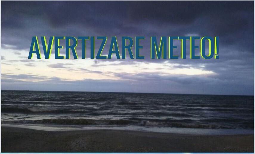 Alerta meteo. Cod Galben in zona litorala a judetelor Constanta si Tulcea