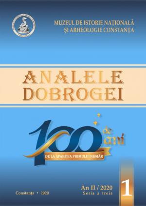 """100 de ani de la apariția primului număr:   Revista """"Analele Dobrogei"""", seria a III-a, an II/2020, nr. 1."""