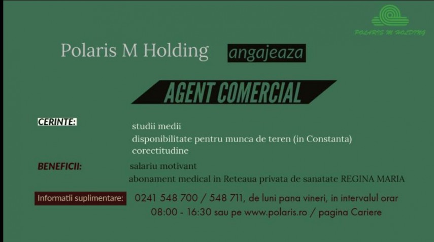 Polaris M Holding - Constanta angajeaza agent comercial