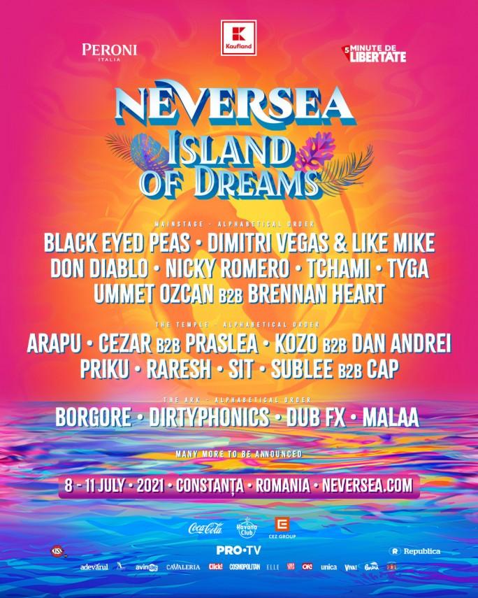 S-a anunțat primul val de artiști pentru ediția din 2021 a festivalului Neversea