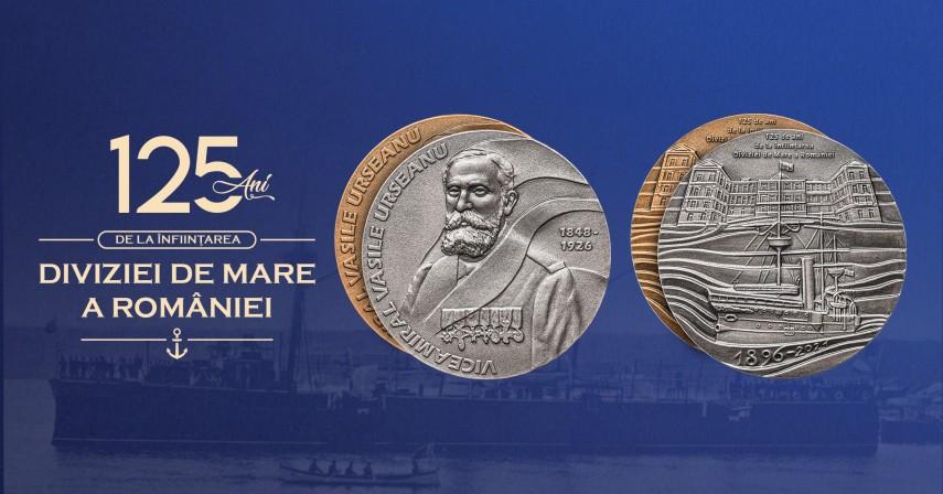 Emisiune medalistica dedicata implinirii a 125 de ani de la infiintarea Diviziei de Mare a Romaniei