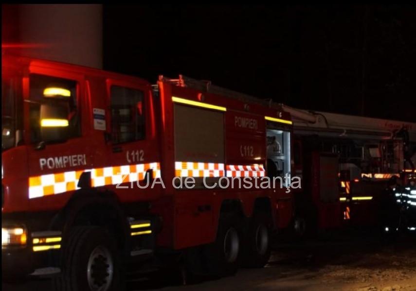 Constanta. Incendiu la un imobil din strada Mihai Viteazu