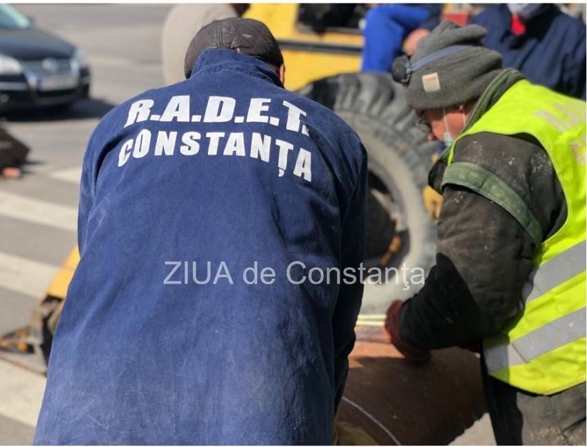 Constanța Au fost finalizate lucrările de eliminare a avariei de pe strada Verde