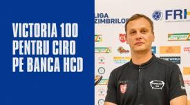 Succesul contra Stelei Victoria cu numărul 100 pentru antrenorul Djordje Cirkovic pe banca HC Dobrogea Sud Constanța